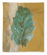 Rustic Leaf Fleece Blanket