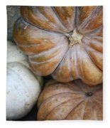 Rustic Pumpkins Fleece Blanket