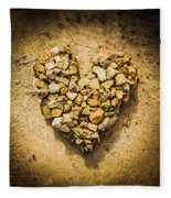 Rustic Rock Romance Fleece Blanket
