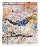 Rustic Seahorse Fleece Blanket