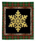 Rustic Snowflake-jp3689 Fleece Blanket