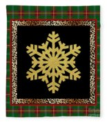 Rustic Snowflake-jp3692 Fleece Blanket