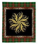 Rustic Snowflake-jp3693 Fleece Blanket