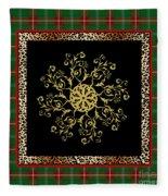 Rustic Snowflake-jp3694 Fleece Blanket