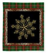 Rustic Snowflake-jp3696 Fleece Blanket