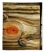 Rustic Wood Fleece Blanket