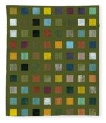 Rustic Wooden Abstract Lx Fleece Blanket