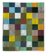 Rustic Wooden Abstract Fleece Blanket