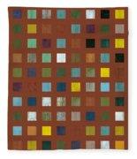Rustic Wooden Abstract Vll Fleece Blanket
