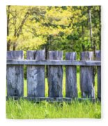Rustic Wooden Fence At Old World Wisconsin Fleece Blanket