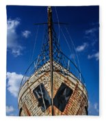 Rusting Boat Fleece Blanket