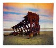 Rusting Shipwreck Fleece Blanket