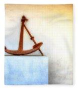 Rusty Anchor Fleece Blanket