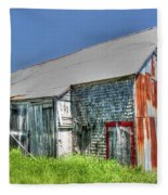 Rusty Barn Fleece Blanket