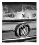 Rusty Buick Emblem Black And White Fleece Blanket
