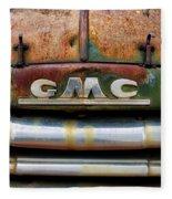 Rusty Gmc Truck Fleece Blanket