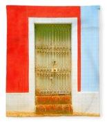 Rusty Iron Door Fleece Blanket