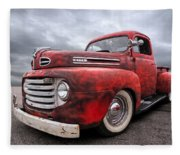 Rusty Jewel - 1948 Ford Fleece Blanket