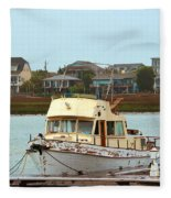 Rusty Old Boat Fleece Blanket