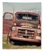 Rusty Old Dodge Fleece Blanket