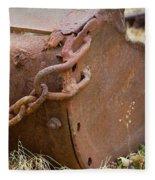 Rusty Old Ore Scoop Fleece Blanket