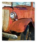 Rusty Red Chevrolet Pickup Truck 1934 Fleece Blanket