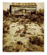 Rusty Rural Ramshackle Fleece Blanket