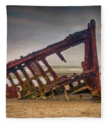 Rusty Shipwreck Fleece Blanket