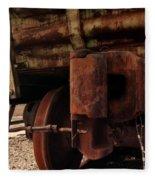 Rusty Train Back Fleece Blanket