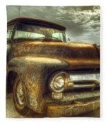 Rusty Truck Fleece Blanket