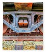 Rusty Wheels Fleece Blanket