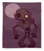 Rusty Zombie Robot Fleece Blanket