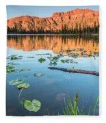 Ruth Lake Lilies Fleece Blanket