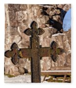 Rya Chapel Grave Marker Fleece Blanket