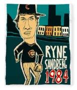 Ryne Sandberg Chicago Cubs Fleece Blanket