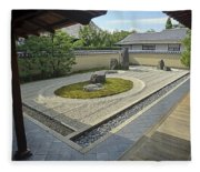 Ryogen-in Zen Rock Garden - Kyoto Japan Fleece Blanket