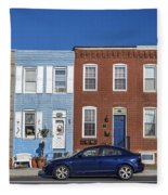 S Baltimore Row Homes - Wide Fleece Blanket