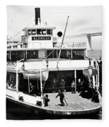 S. P. Ferry Alameda At San Francisco Circa 1940 Fleece Blanket