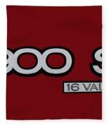 Saab 900 S Logo Fleece Blanket