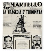 Sacco And Vanzetti Front Page Fleece Blanket