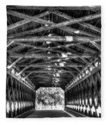 Sachs Bridge - Gettysburg - Bw-hdr Fleece Blanket