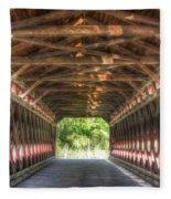 Sachs Bridge - Gettysburg - Vert.-hdr Fleece Blanket