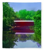 Sachs Covered Bridge - Gettysburg Pa Fleece Blanket