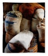 Sacks Of Feed Fleece Blanket