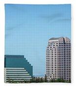 Sacramento California Cityscape Skyline On Sunny Day Fleece Blanket