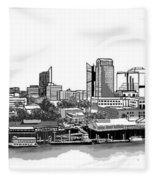 Sacramento Skyline N. Fleece Blanket