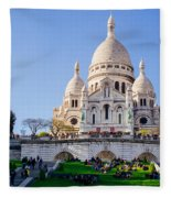Sacre Coeur Basilica Fleece Blanket