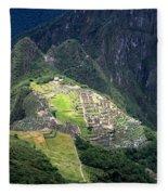 Sacred City Of Machu Picchu Fleece Blanket