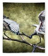 Sacred Ibis Photobombing Fleece Blanket