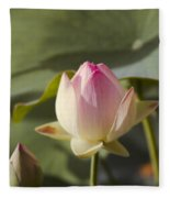 Sacred Lotus - Nelumbo Fleece Blanket